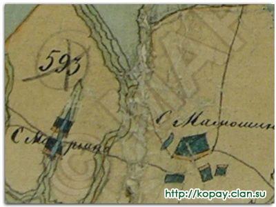 Карта генерального межевания рузского уезда